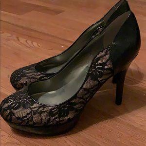 Guess brand platform heels